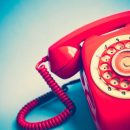32577192 – vintage red telephone